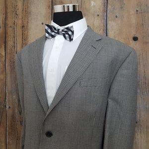 Stafford Sport Coat Mens 48R Wool Blend Black Tan